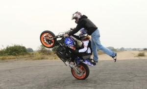 baptême stunt duo wheeling