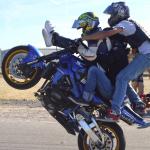 trio baptême stunt wheeling